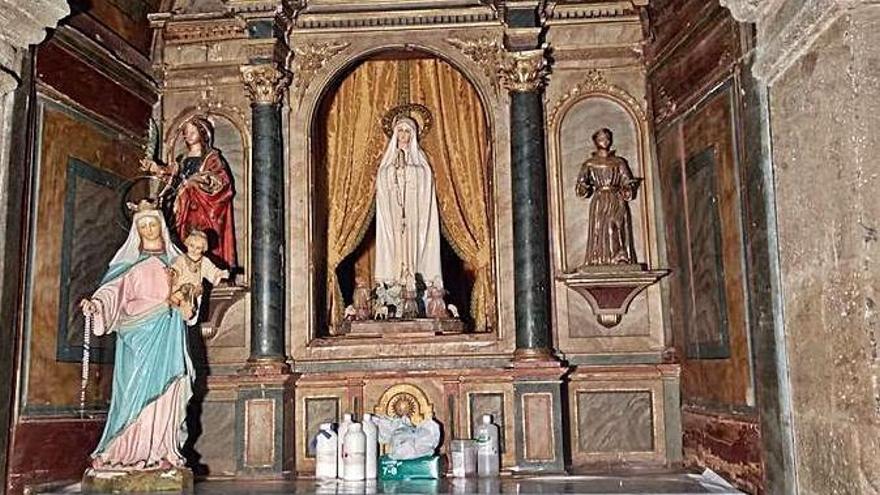 Riomanzanas recupera el retablo de la Virgen de Fátima