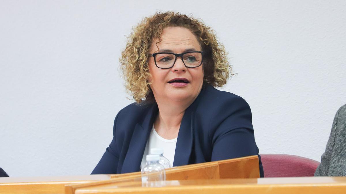 Image of the mayor Carmen Gómez in the plenary session of Torrevieja