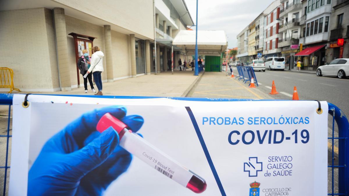 Entrada del centro de salud de Cambados, donde se realizaron pruebas del COVID