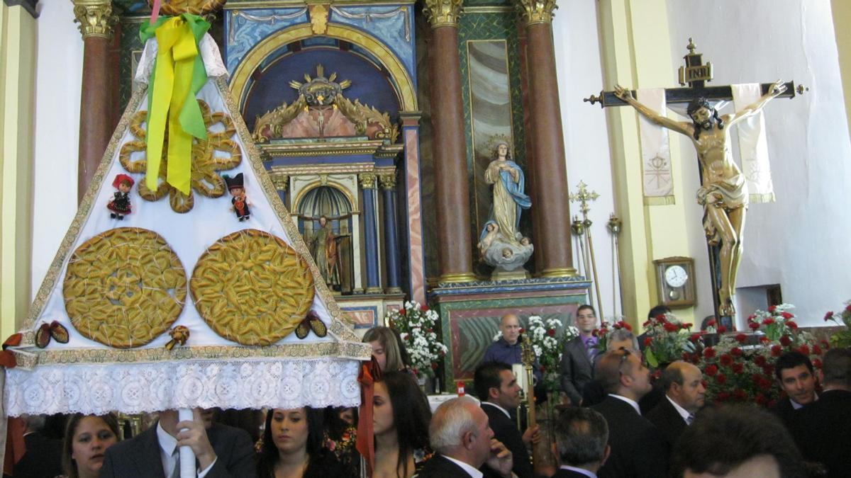 Una de las últimas celebraciones de la fiesta del Cristo en Santa Cristina.