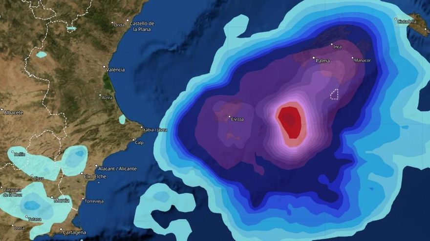 Avisan de una posible DANA en la zona Mediterránea la próxima semana