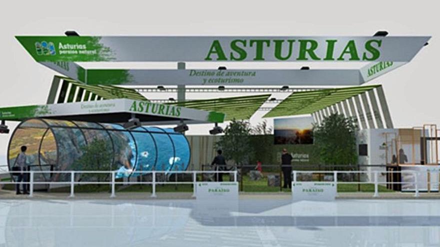"""Asturias se """"vende"""" en Fitur con un stand de 692 metros cuadrados de calidad de vida"""