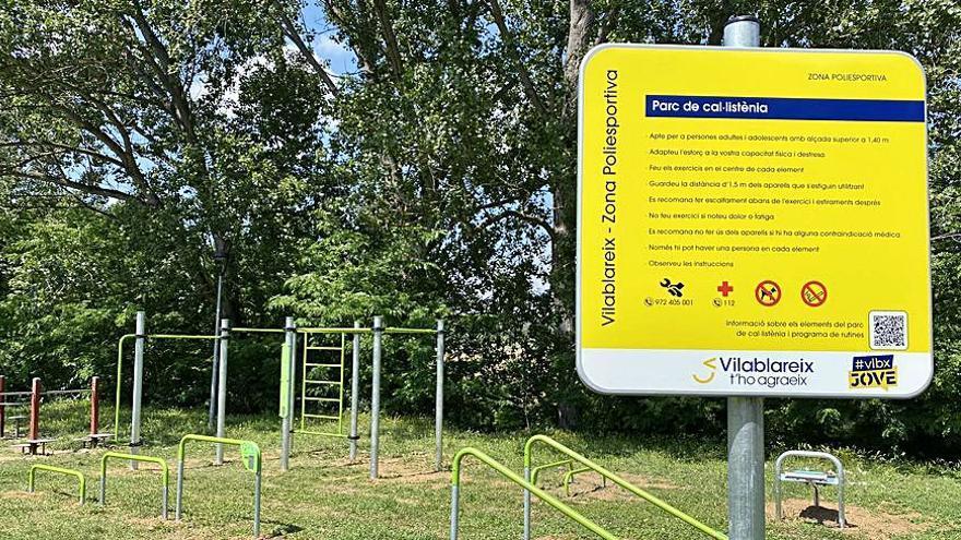 Vilablareix obre un parc de cal·listènia a la via verda