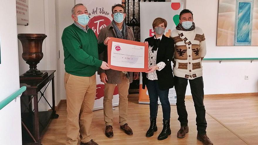 La Asociación de Alzhéimer recibe 3.790 euros donados por la Ruta del Vino de Toro