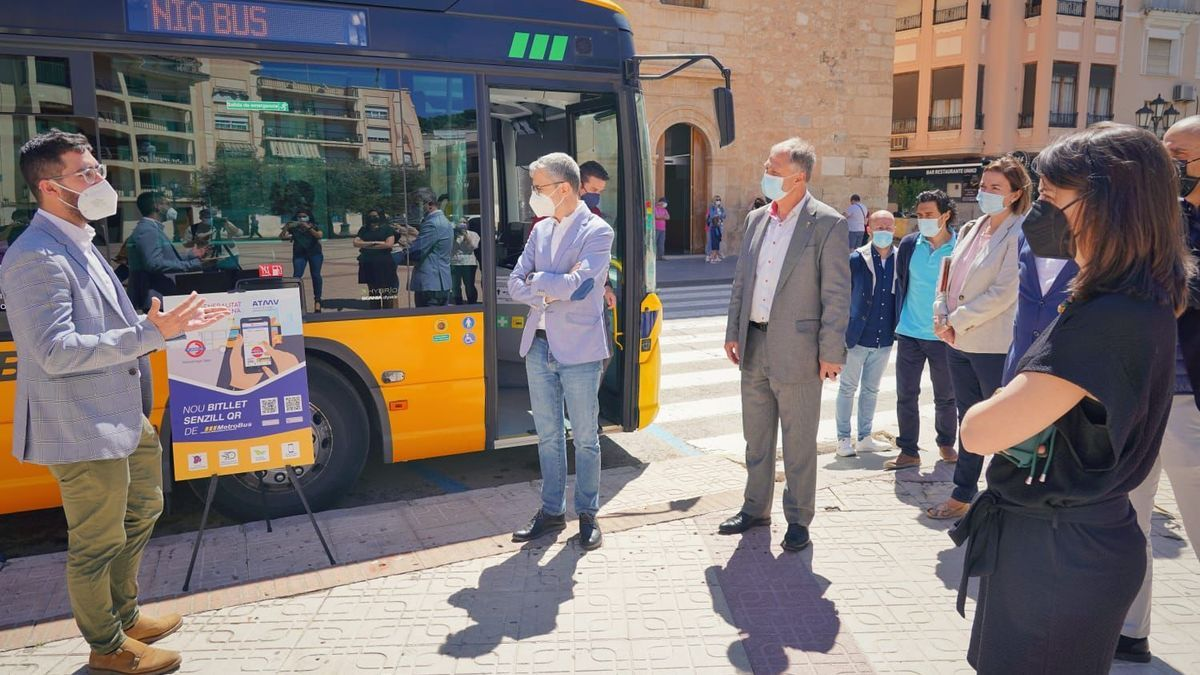 Presentación del nuevo billete QR Metrobús