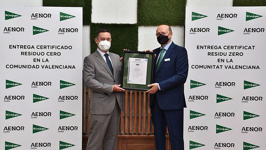 El Corte Inglés consigue la certificación Aenor de «Residuo Cero»