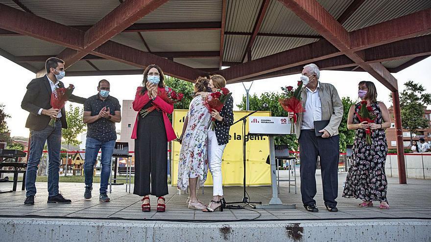 ERC homenatja  Joan Badia a Callús en la celebració dels seus 90 anys