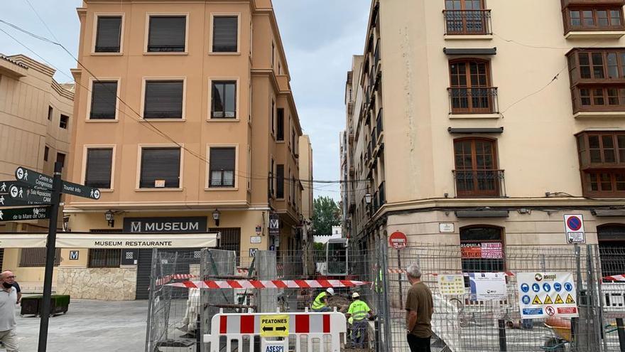 Nuevos cortes de calles en el centro de Elche