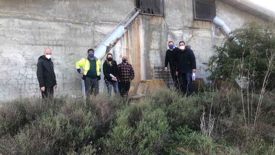 La Diputación repara las grietas del depósito de agua potable de Benegiles