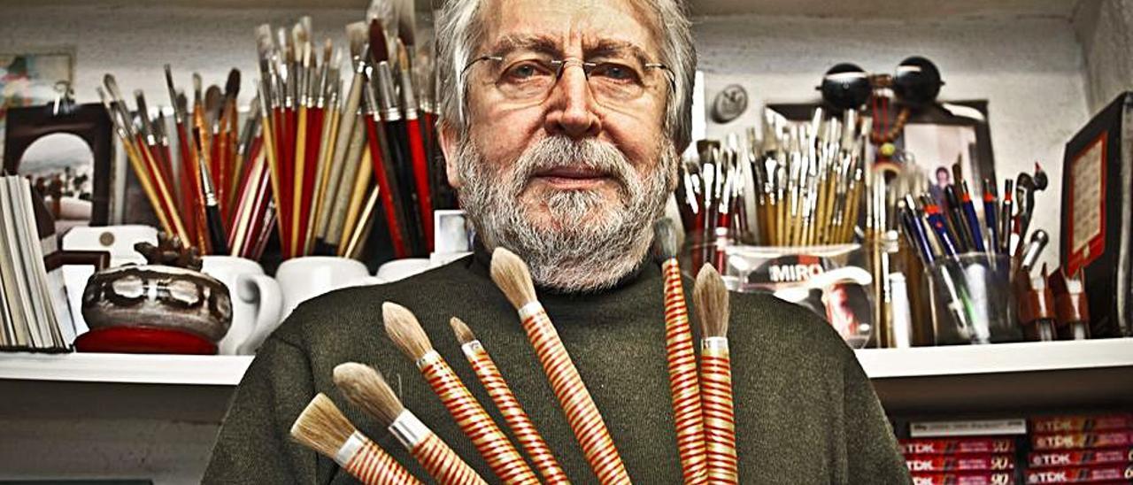 El artista alcoyano Antoni Miró.   JUANI RUZ