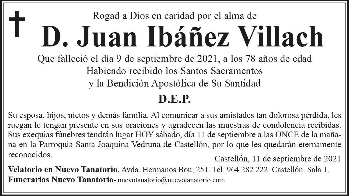 D. Juan Ibáñez Villach