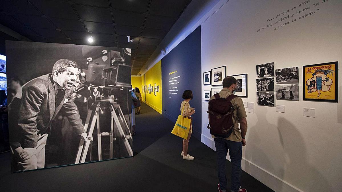 Exposición sobre Berlanga inaugurada ayer en Madrid y que se verá también en València.,  | A. ORTEGA/E. PRESS
