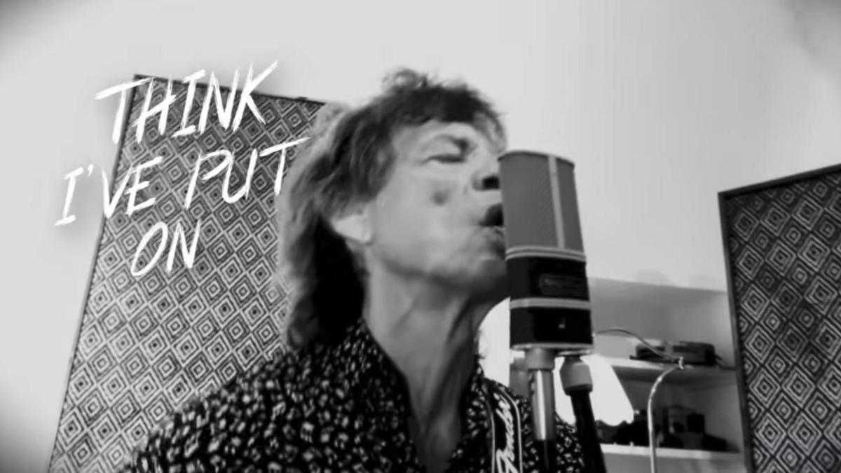 Mick Jagger en el videoclip de su nueva canción.