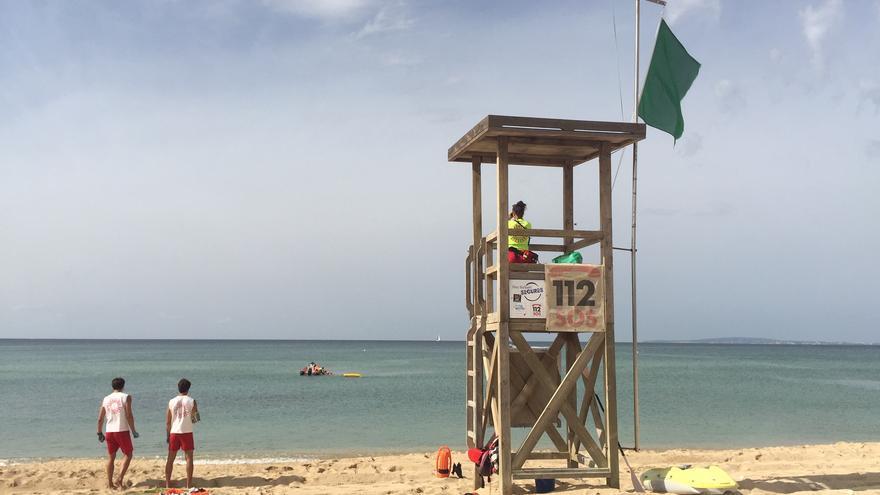 Los socorristas vigilarán las playas de Palma a partir de este sábado, 1 de mayo