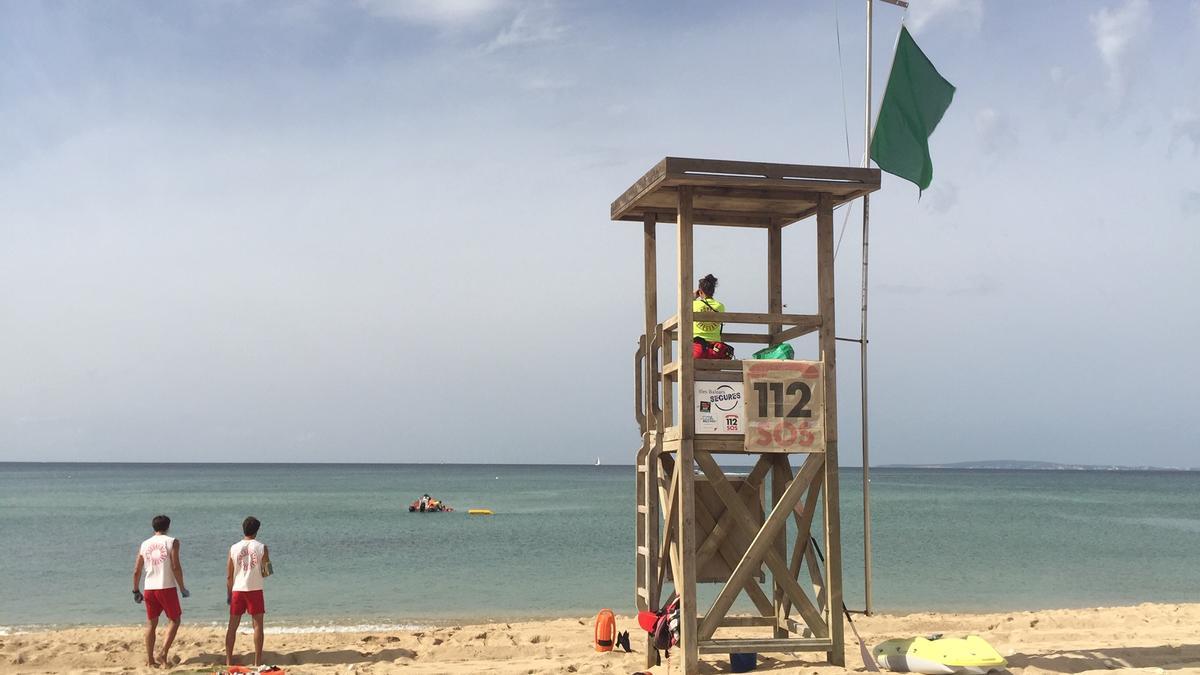 Imagen de archivo de un simulacro en la playa.