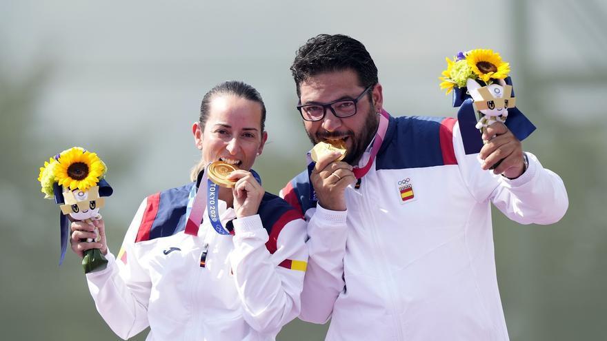 """Fátima Gálvez y Alberto Fernández celebran su oro: """"Estamos todavía en un sueño"""""""