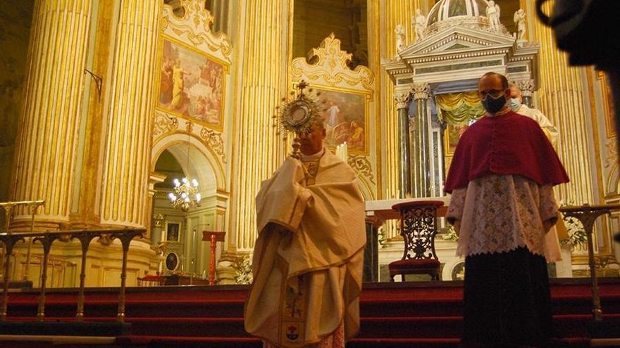 La procesión del Corpus Christi en Málaga, de nuevo dentro de la Catedral