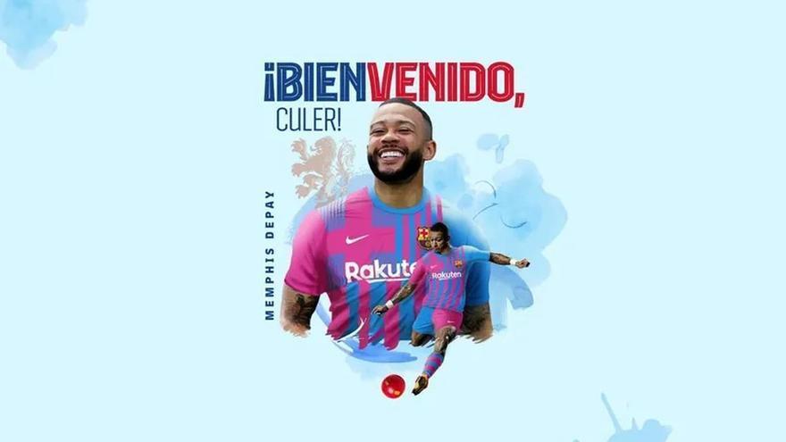 Depay firma amb el Barça per dues temporades