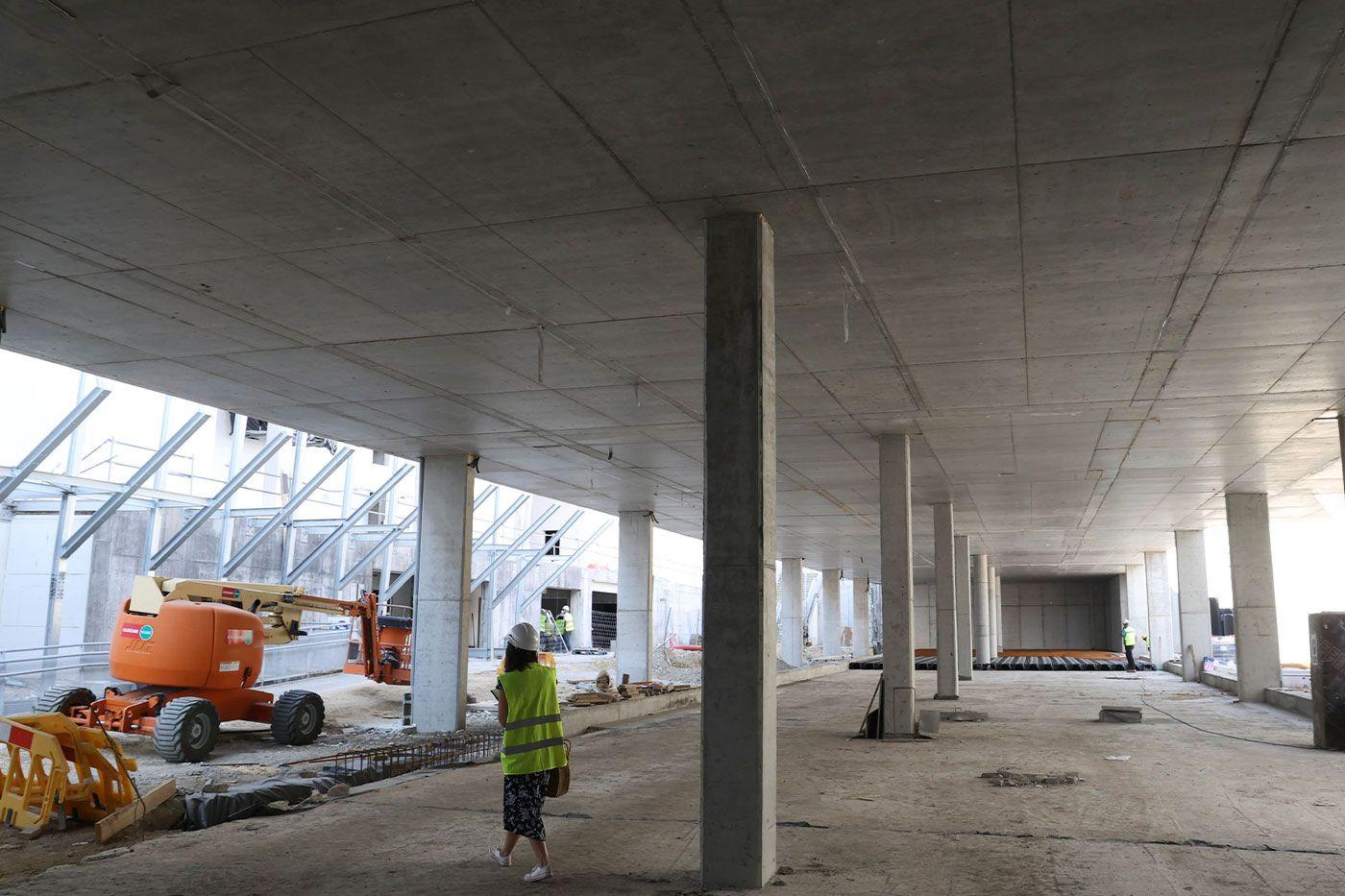Vista interior de la futura terminal de buses