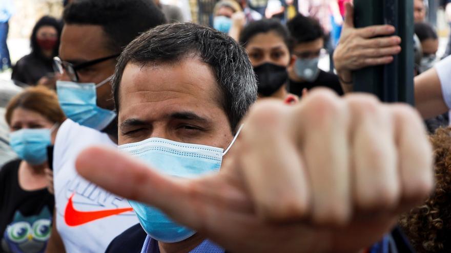 El opositor venezolano Juan Guaidó denuncia un intento de detención