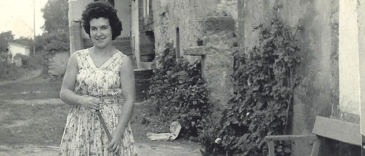 La abuela Mari Luz, de joven.