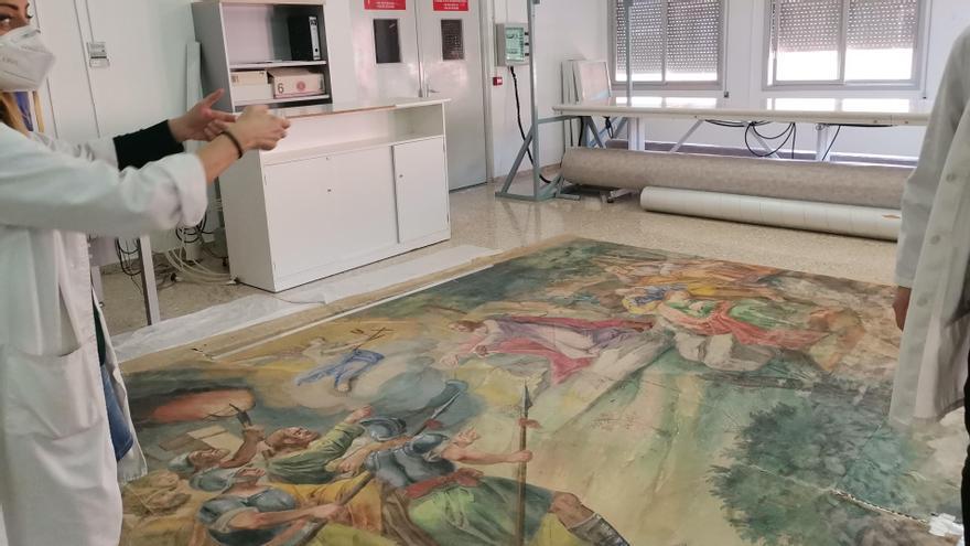 Un paseo por las obras de arte que se restauran en Castellón