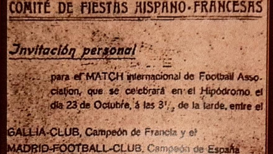 Madrid F.C. vs Galia Sport, 23 de octubre de 1905