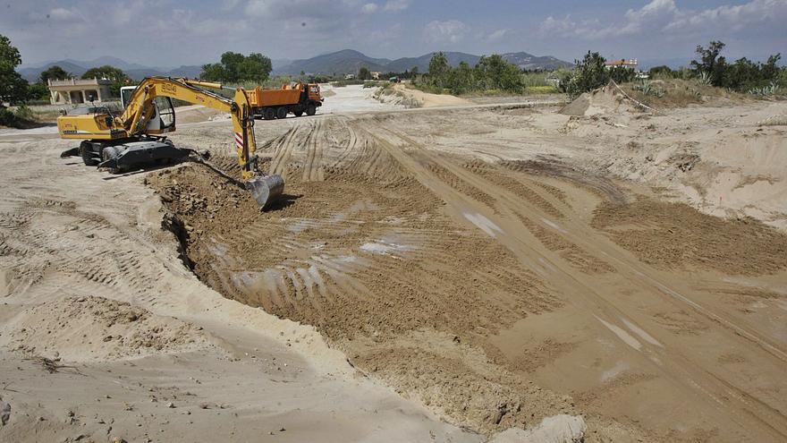 La Conexión Sur de Oliva usará 18.000 m3 de áridos sacados  de la rambla de la Gallinera