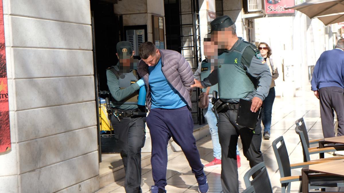 Uno de los detenidos en la operación antidroga realizada en marzo por la Guardia Civil.
