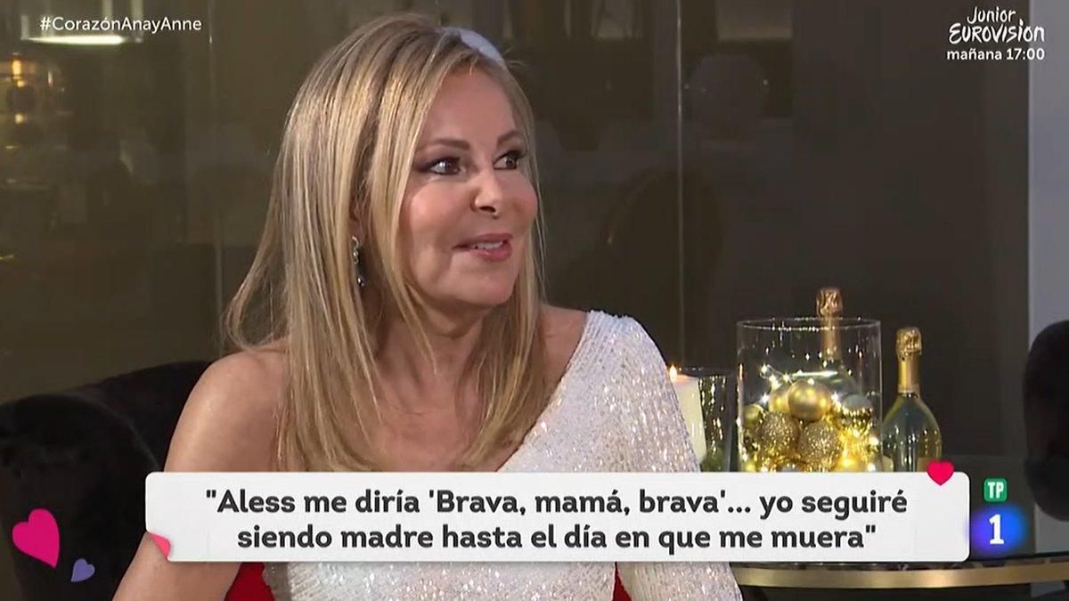 """Ana Obregón reaparece en TVE: """"Aless me ha dado una fuerza brutal para volver a la vida"""""""