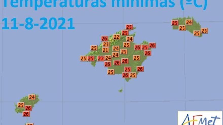So heiß war es in der vergangenen Nacht auf Mallorca
