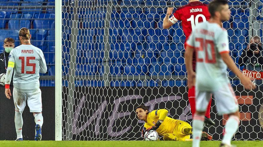 España se atasca ante Suiza