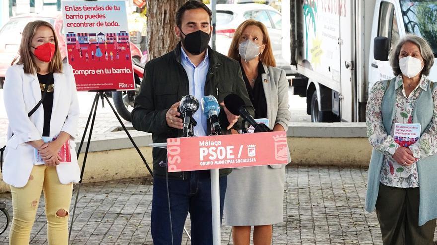 """El PSOE critica los pluses de los gerentes """"mientras los comercios de los barrios no reciben ayudas"""""""