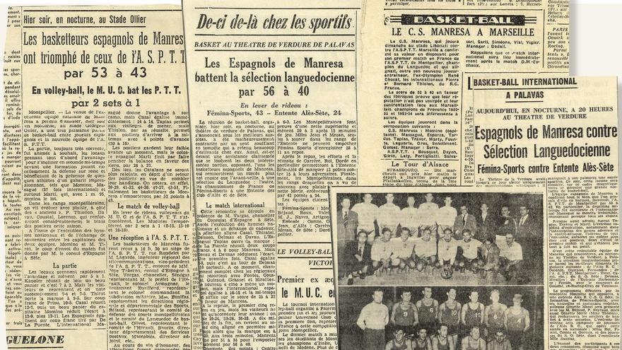 La premsa del moment, la francesa i la local, van recollir l'experiència de la sortida internacional de l'equip manresà