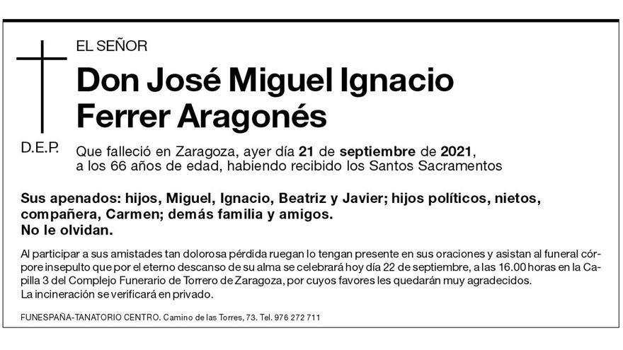 Don José Miguel Ignacio Ferrer Aragonés