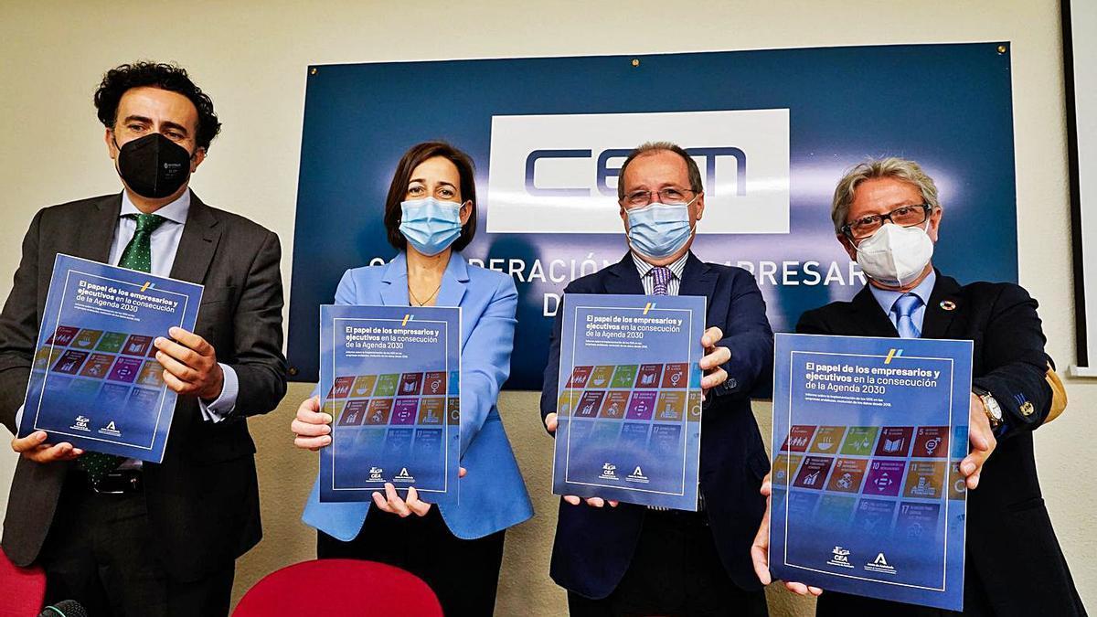 La presentación del informe del OECA, ayer en la sede de la CEM