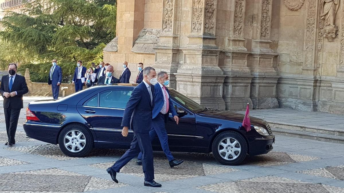 La llega del Rey a Salamanca para la cumbre de presidentes