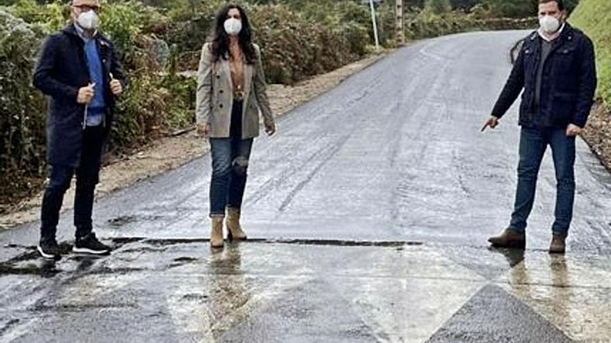 Supervisan las obras del vial entre Valongo y Augasantas