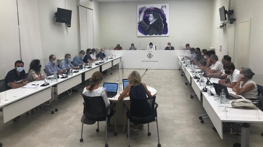 Els portaveus dels grups municipals de Figueres fan una valoració del darrer ple