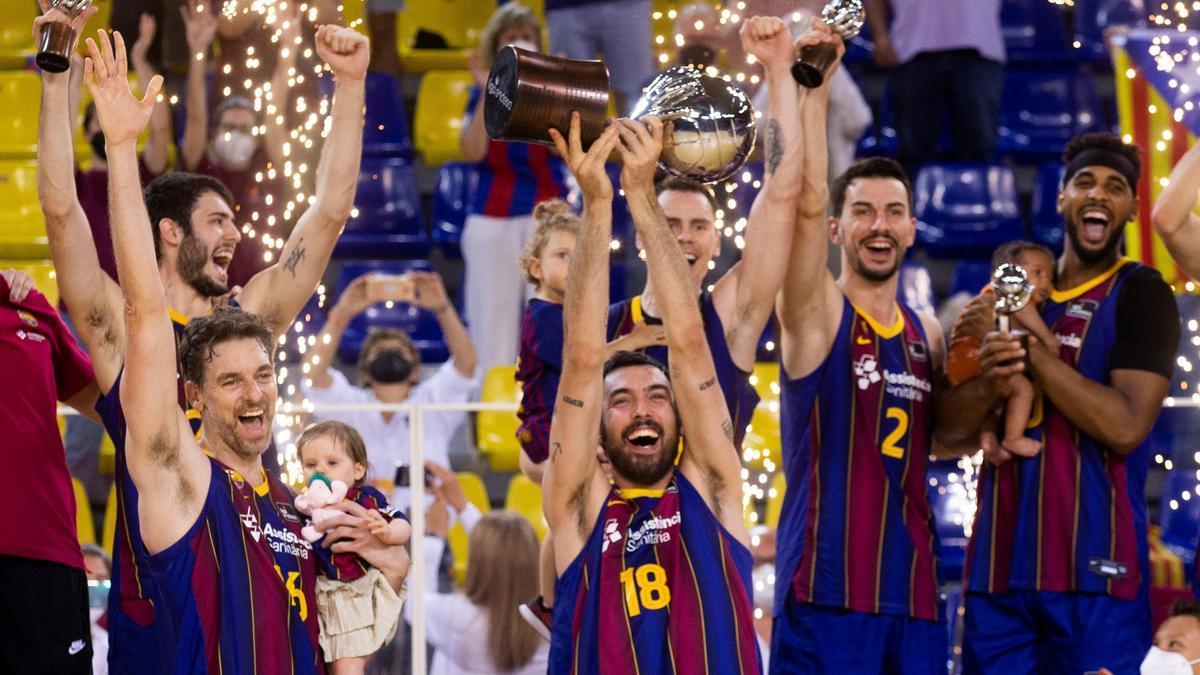 El Barcelona se proclamó campeón de la pasada liga Endesa