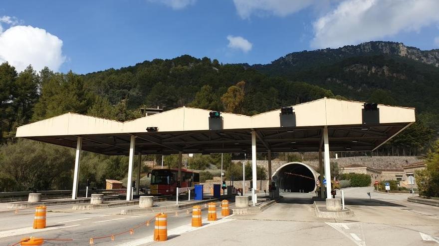 La covid propicia una caída del 33 por ciento en el tráfico del túnel de Sóller