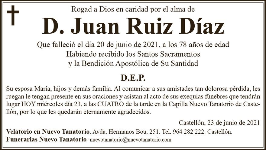 D. Juan Ruiz Díaz