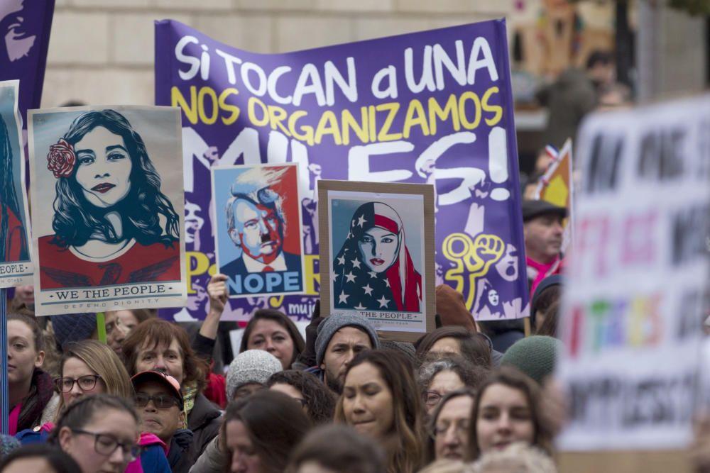 Protestas contra Donald Trump en Barcelona