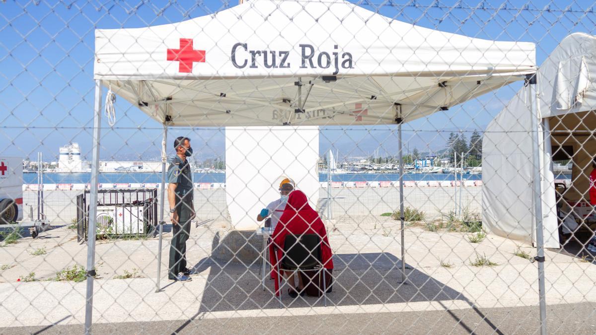 Puesto de la Cruz Roja en Motril