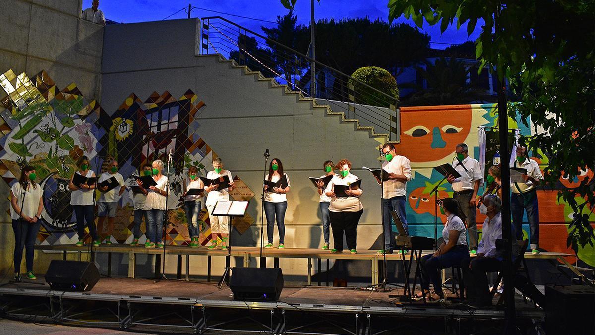 Concert de la Societat Coral La Llanterna, dins dels actes de pròleg de la Festa Major