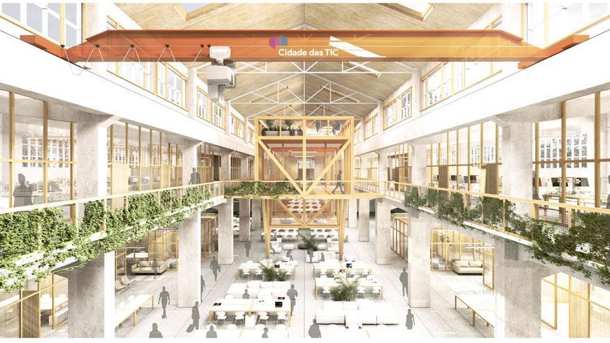La primera nave de la Ciudad de las TIC explota el uso de madera y espacios limpios y sostenibles