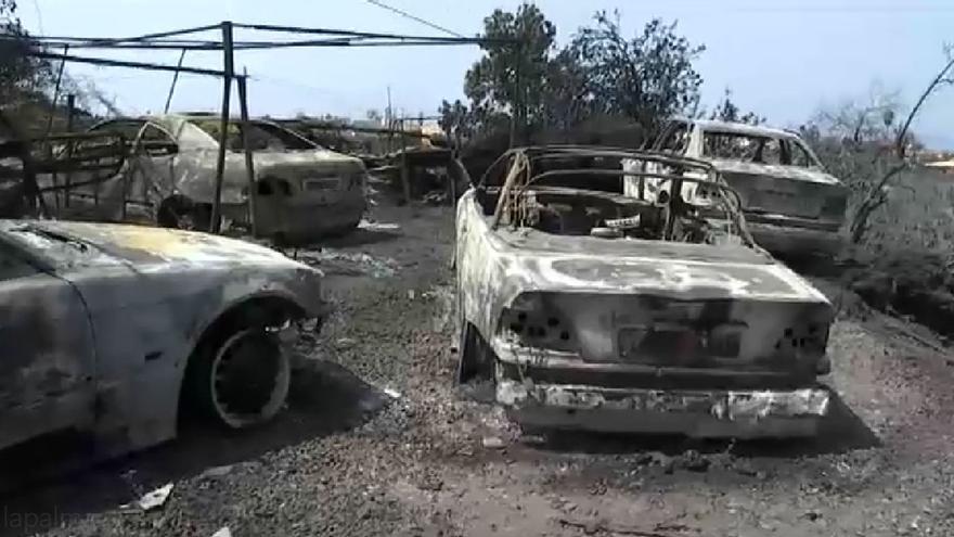 Curioso accidente de tráfico en la zona del incendio de El Paso