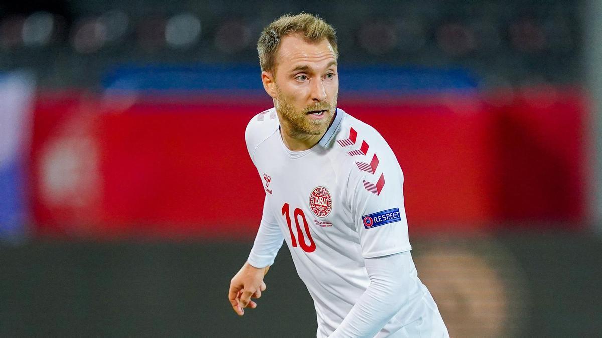 Christian Eriksen con Dinamarca.