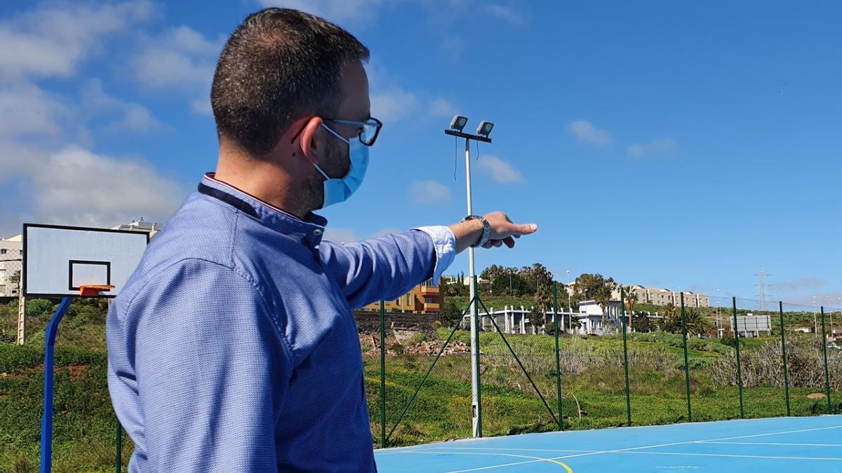 Javier Rivero, en el polideportivo Domingo Mena