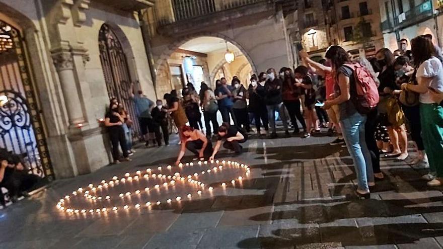 Concentració a Girona contra els feminicidis